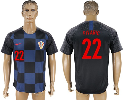 Croatia #22 Pivaric Away Soccer Country Jersey