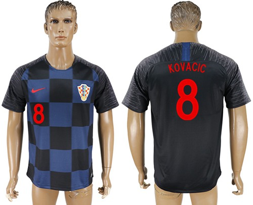 Croatia #8 Kovacic Away Soccer Country Jersey