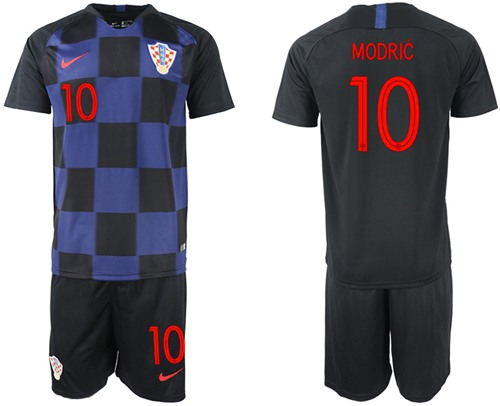 Croatia #10 Modric Away Soccer Country Jersey