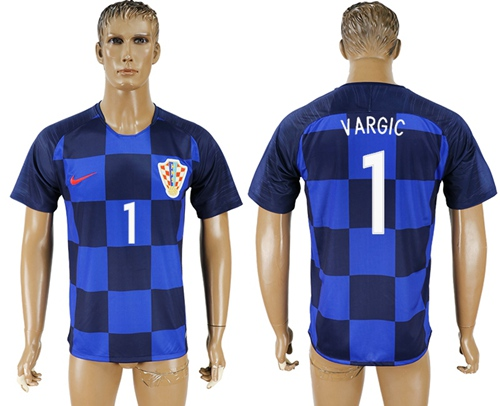 Croatia #1 Vargic Away Soccer Country Jersey