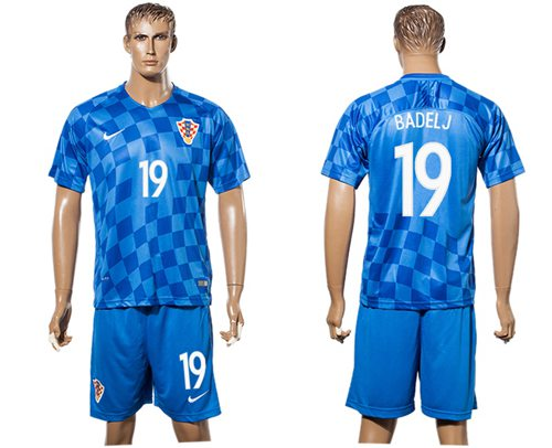 Croatia #19 Badelj Away Soccer Country Jersey