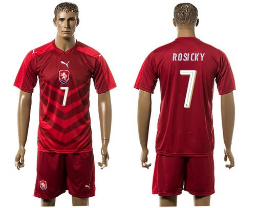 Czech #7 Posicky Red Home Soccer Country Jersey