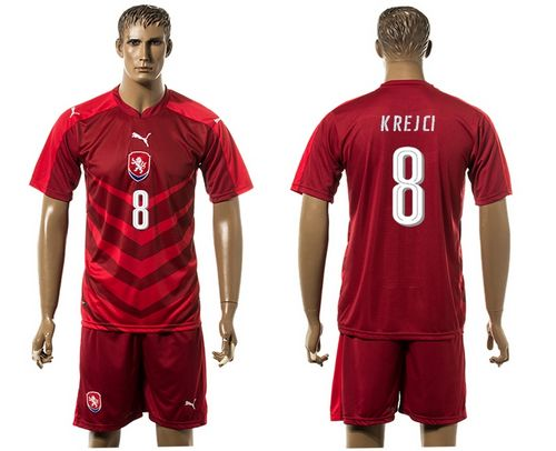 Czech #8 Krejci Red Home Soccer Country Jersey