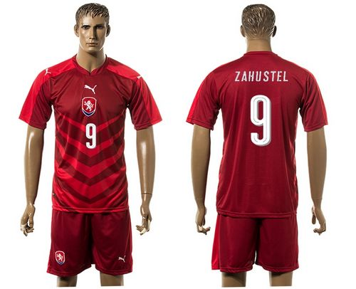 Czech #9 Zahustel Red Home Soccer Country Jersey