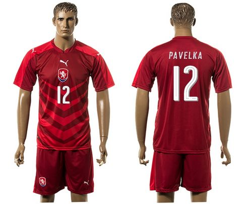Czech #12 Pavelka Red Home Soccer Country Jersey