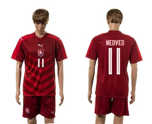 Czech #11 Nedevd Red Home Soccer Country Jersey
