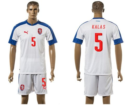Czech #5 Kalas Away Soccer Country Jersey