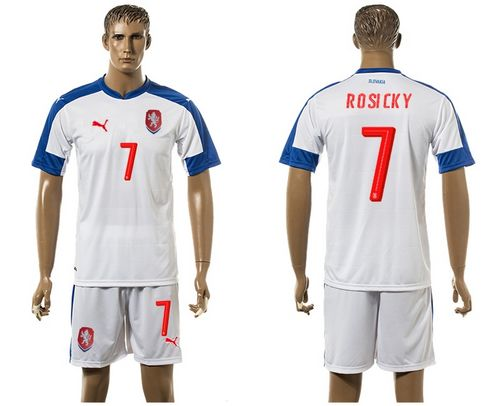 Czech #7 Posicky Away Soccer Country Jersey