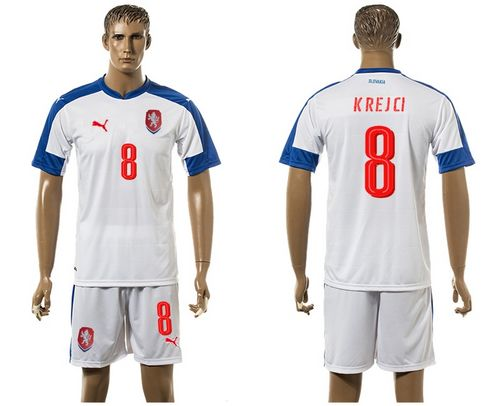 Czech #8 Krejci Away Soccer Country Jersey