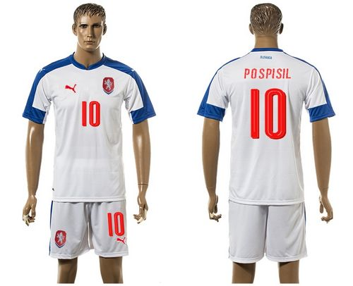 Czech #10 Pospisil Away Soccer Country Jersey