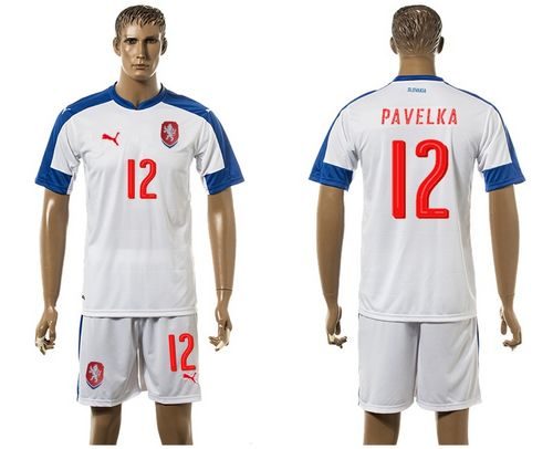 Czech #12 Pavelka Away Soccer Country Jersey