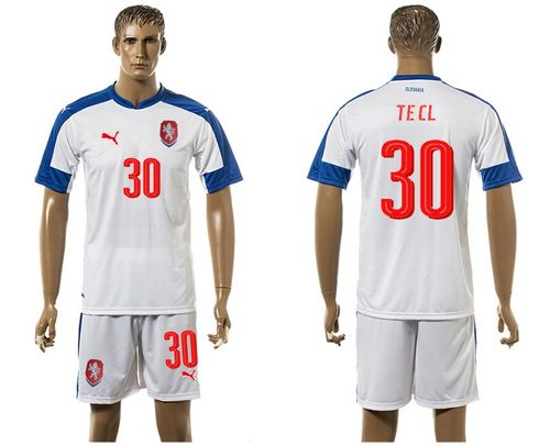 Czech #30 Tecl Away Soccer Country Jersey