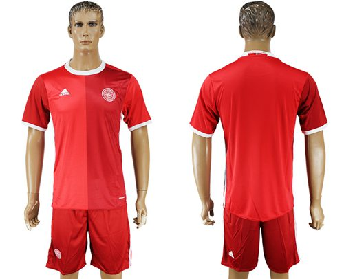 Danmark Blank Red Home Soccer Country Jersey