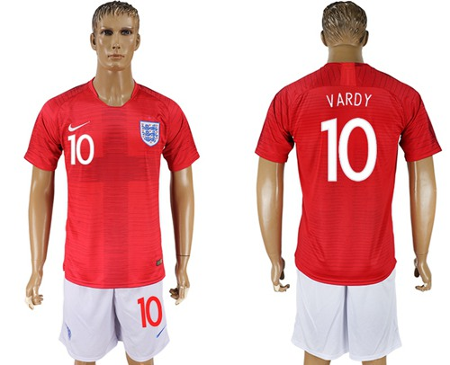 England #10 Vardy Away Soccer Country Jersey