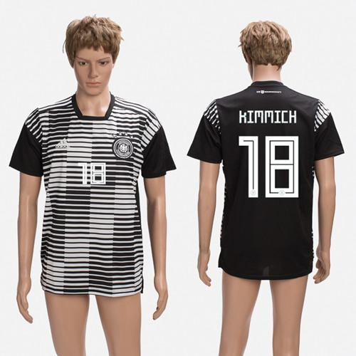 Germany #18 Kimmich Black Soccer Country Jersey