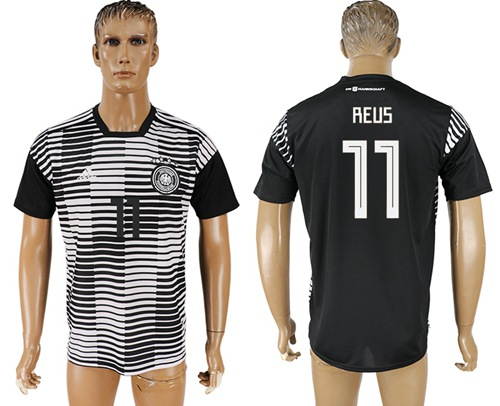 Germany #11 Reus Black Soccer Country Jersey
