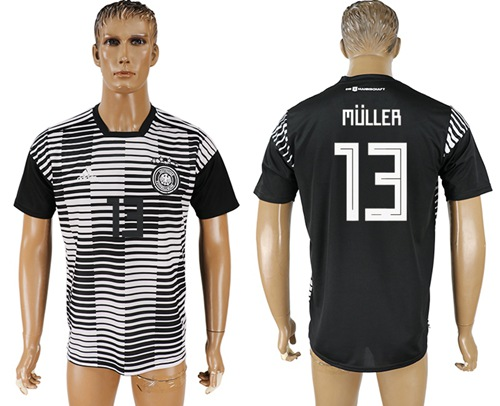 Germany #13 Muller Black Soccer Country Jersey
