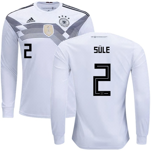Germany #2 Sule White Home Long Sleeves Soccer Country Jersey