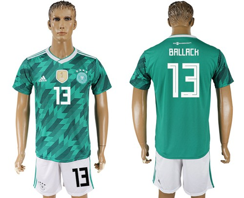 Germany #13 Ballack Away Soccer Country Jersey