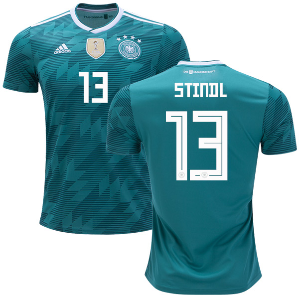 Germany #13 Stindl Away Soccer Country Jersey