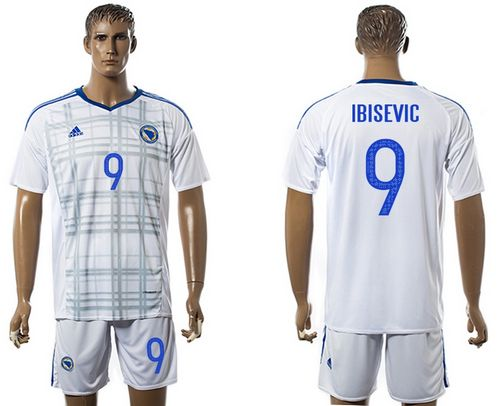 Bosnia Herzegovina #9 Ibisevic Away Soccer Country Jersey