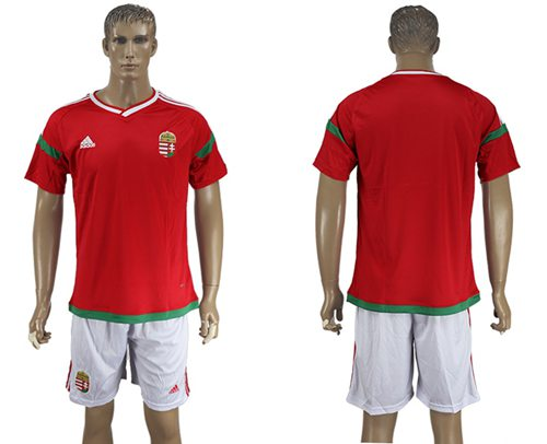 Hungary Blank Home Soccer Country Jersey