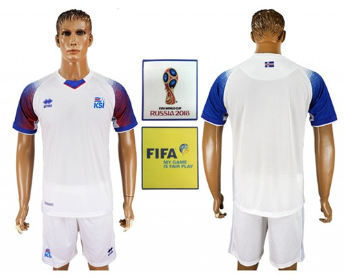 Iceland Blank Away Soccer Country Jersey