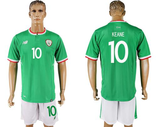 Ireland #10 Keane Green Soccer Country Jersey