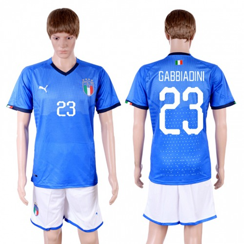 Italy #23 Gabbiadini Home Soccer Country Jersey