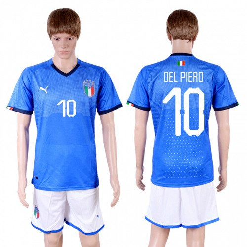 Italy #10 Del Piero Home Soccer Country Jersey