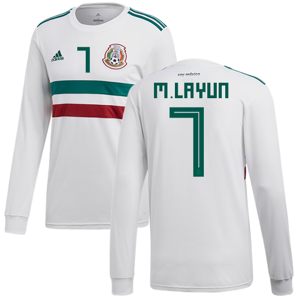 Mexico #7 M.Layun Away Long Sleeves Soccer Country Jersey