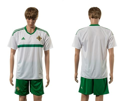 Northern Ireland Blank White Away Soccer Country Jersey