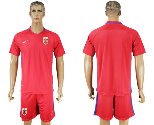 Norway Blank Home Soccer Country Jersey