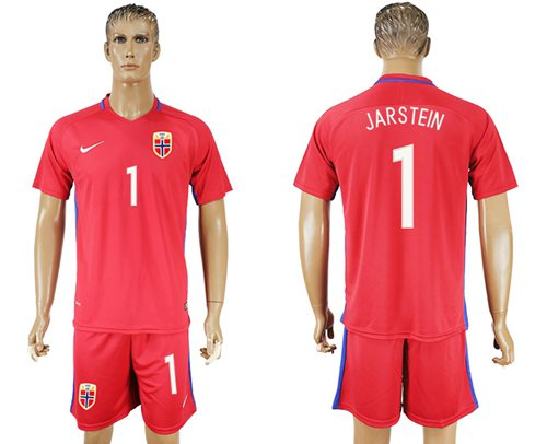 Norway #1 Jarstein Home Soccer Country Jersey