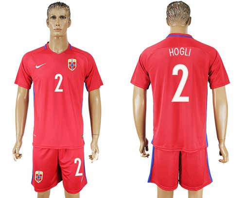 Norway #2 Hogli Home Soccer Country Jersey
