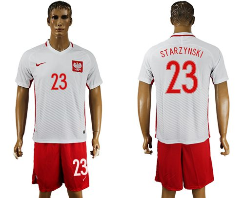 Poland #23 Starzynski Home Soccer Country Jersey
