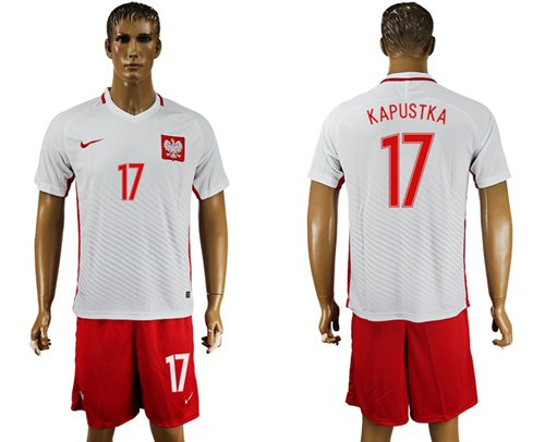 Poland #17 Kapustka Home Soccer Country Jersey