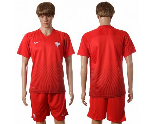 Poland Blank Away Soccer Country Jersey