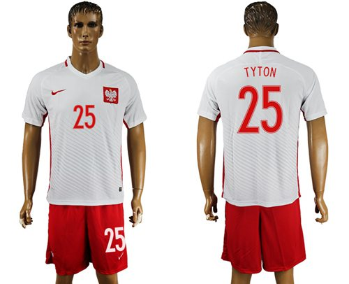 Poland #25 Tyton Home Soccer Country Jersey