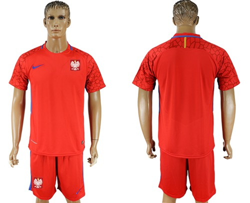 Poland Blank Red Goalkeeper Soccer Country Jersey