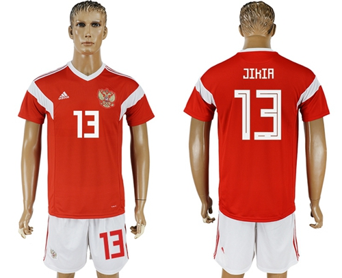 Russia #13 Jikia Home Soccer Country Jersey