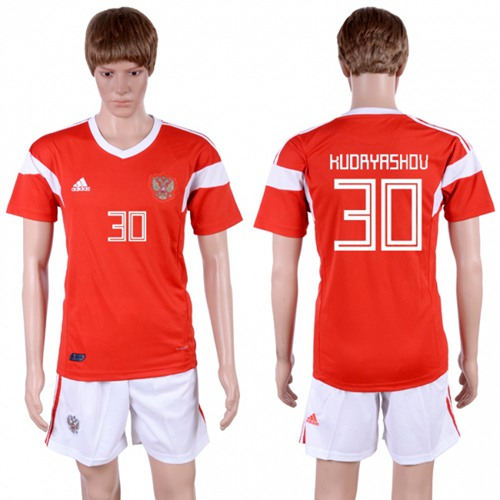 Russia #30 Kudryashov Home Soccer Country Jersey