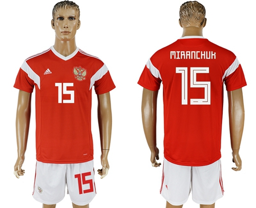 Russia #15 Miranchuk Home Soccer Country Jersey