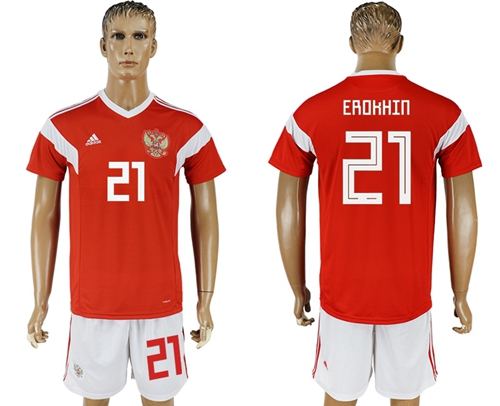 Russia #21 Erokhin Home Soccer Country Jersey
