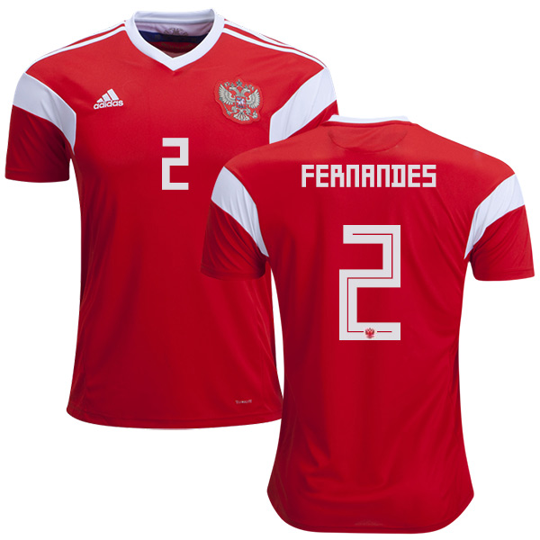 Russia #2 Fernandes Home Soccer Country Jersey