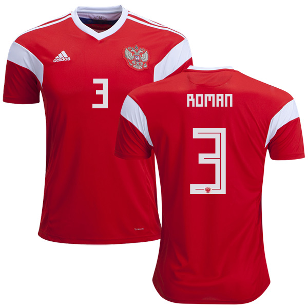 Russia #3 Roman Home Soccer Country Jersey