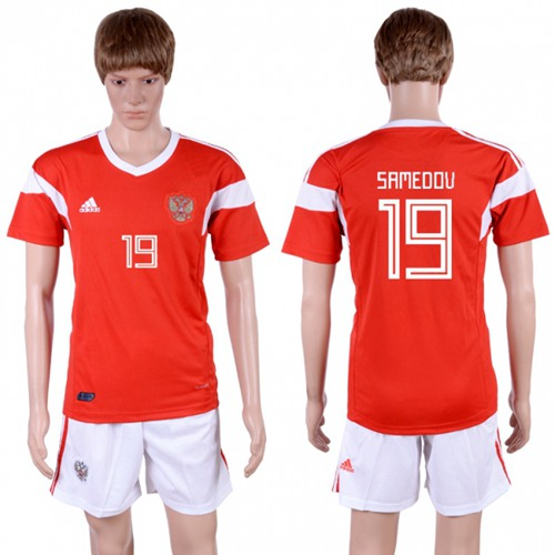 Russia #19 Samedov Home Soccer Country Jersey