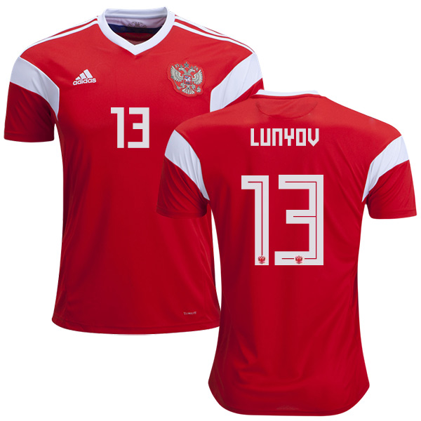 Russia #13 Lunyov Home Soccer Country Jersey