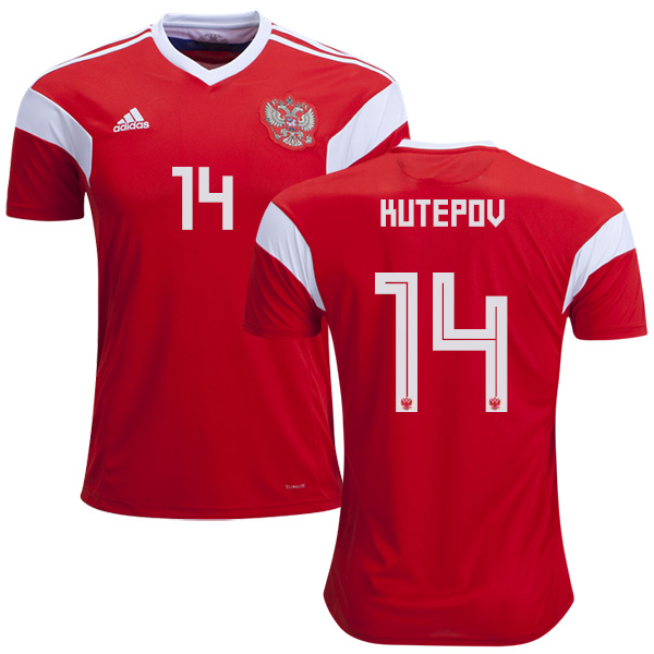 Russia #14 Kutepov Home Soccer Country Jersey