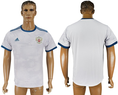 Russia Blank Away Soccer Country Jersey
